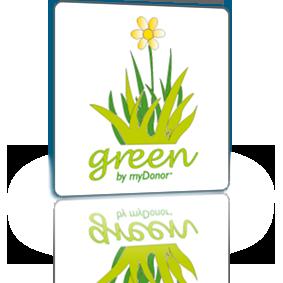 Logo software Green by myDonor®
