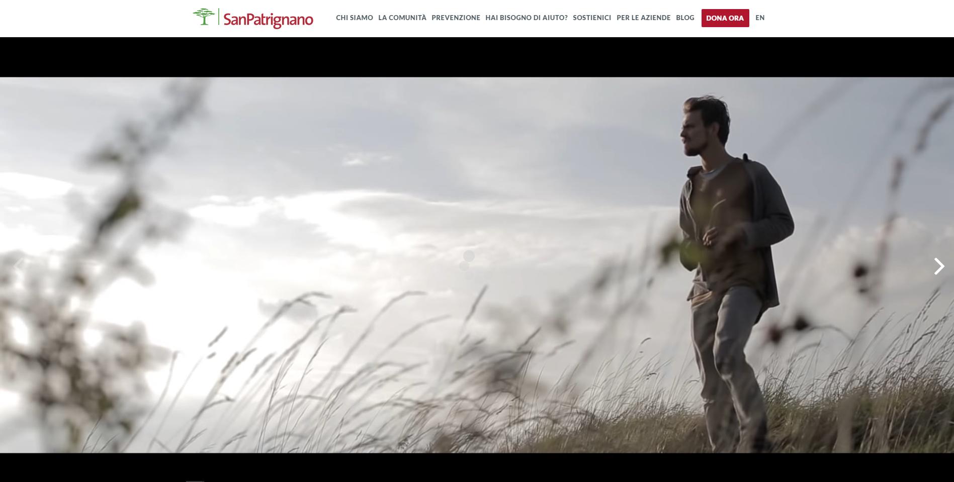 l sito web della Comunità di San Patrignano è online! - myDonor.org