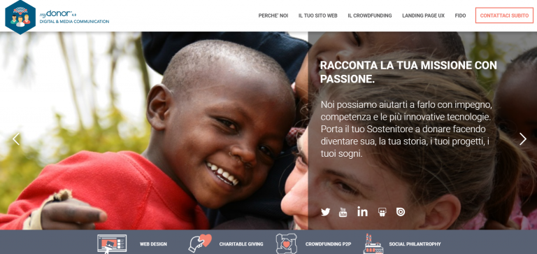 Nuovo sito myDonor® dedicato alle attività Digital sul web