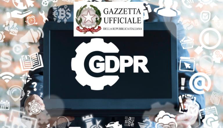 PRIVACY – decreto italiano di armonizzazione – Dlgs 10 agosto 2018 n. 101