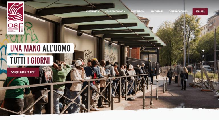 E' online il nuovo sito web di Opera San Francesco per i poveri di Milano