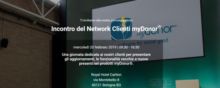 20 febbraio – I° incontro 2019 del Network Cienti myDonor®