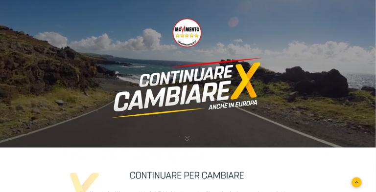 Elezioni Europee 2019 – M5S utilizza la piattaforma custom Eventi myDonor® e una Landing Page UX dedicata per l'auto finanziamento.