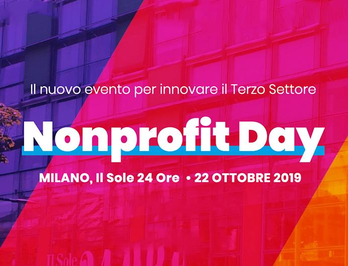 Nonprofit Day – Milano 22 ottobre 2019 – Il Sole 24 Ore