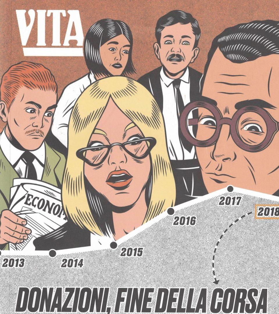 7 gennaio 2020 – Vita in edicola con l'Italian Giving Report realizzato con il contributo di myDonor® e AIFR