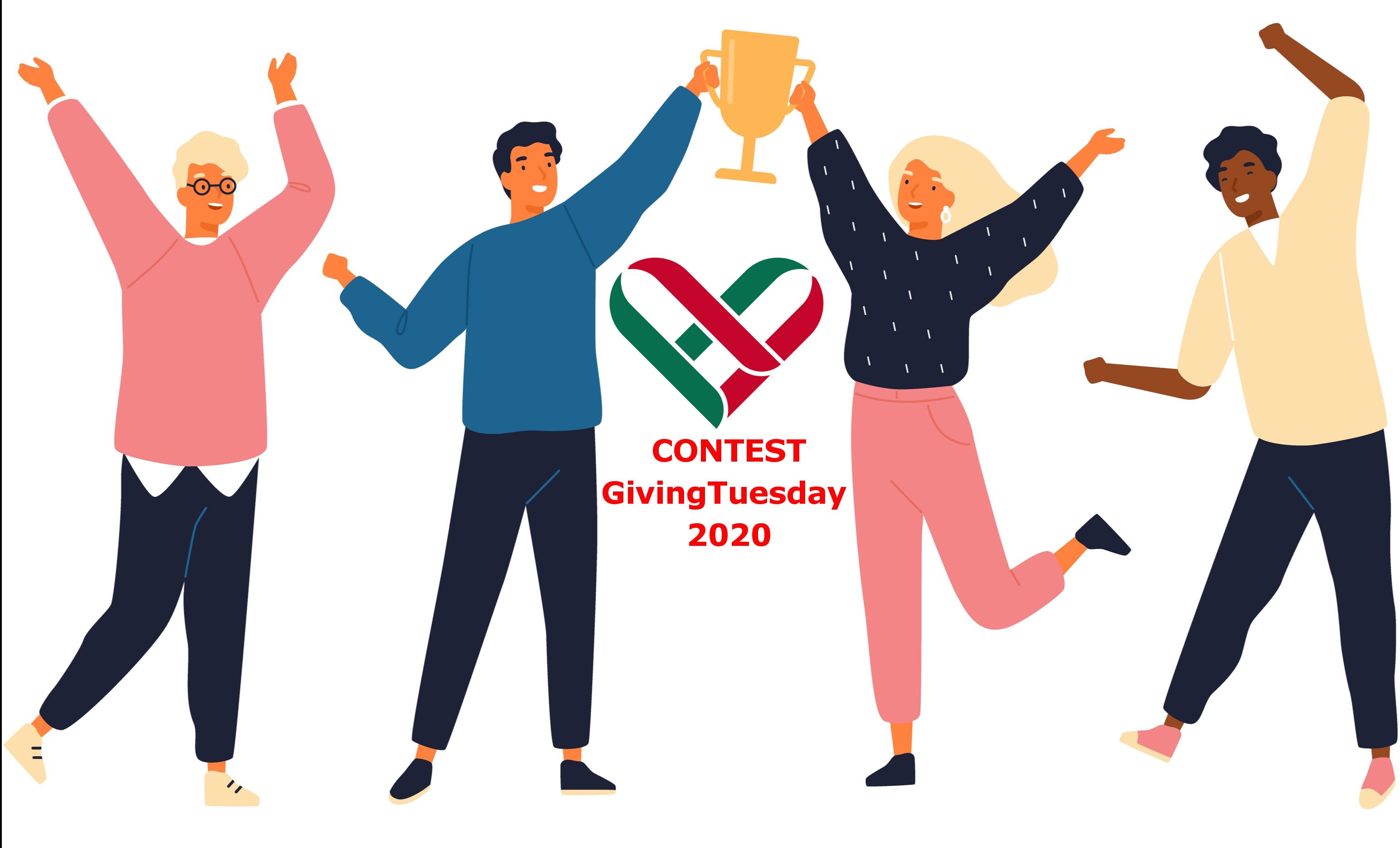 16 febbraio 2021 – Vieni a conoscere i vincitori del contest GivingTuesday 2020