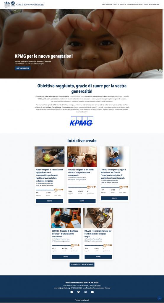 Crowdfunding myDonor® KPMG con la Fondazione Francesca Rava in aiuto dei bambini