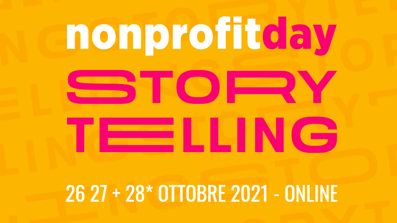 26-27-28 ottobre 2021- Evento online Nonprofitday. Ci siamo come Main Sponsor e per fornire consulenza gratuita